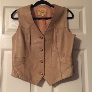Vintage leather tony lama vest